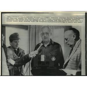 1976 Press Photo U S Olympic Committee President Phillip Krumm speaks to issue.