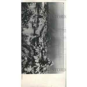 1949 Press Photo Blanket snow cover Portland Six Inches - RRX94087
