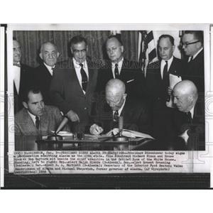 1958 Press Photo ALASKA PRESIDENT EISENHOWER RICHARD - RRX85861