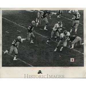 1975 Press Photo Green Bay Packers & Steelers football players during a game