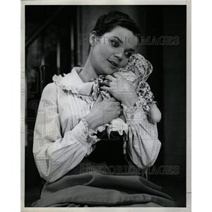 1961 Press Photo Miracle Worker Player Actress Brennan - RRW18775
