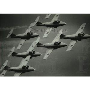 1983 Press Photo Canadian Snowbirds team at Experimental Aviation Airshow, WI