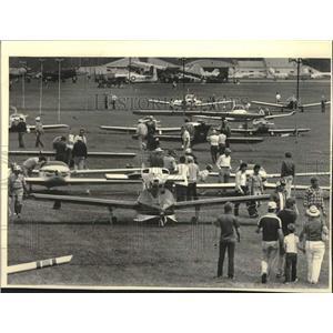 1984 Press Photo Planes at Experimental Aircraft Association Convention, Oshkosh