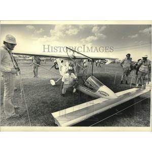 1984 Press Photo Larry Newman's Falcon-XP plane built from kit, Oshkosh