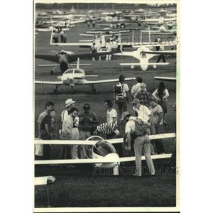 1986 Press Photo Experimental Aircraft Association Convention & Fly-In, Oshkosh