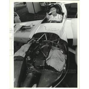 1993 Press Photo Jon Sharp in his Formula One plane, Nemesis - mjc29813