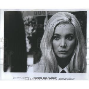 """1968 Press Photo Anna Gael As Isabel In """"Therese And Isabelle"""""""
