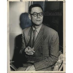 1949 Press Photo Val Gielgud, Actor, Director, Broadcaster - noo22188