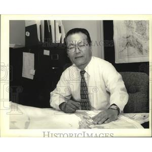 1994 Press Photo Japanese Consul Hiromu Kawai contacted family after earthquake