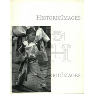 1992 Press Photo Andrew Harder, H.V. Tae Kwon Do, Empire State Games, New York