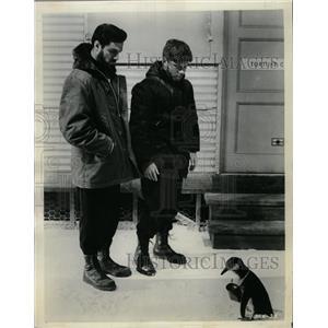 1965 Press Photo Quick, Before It Melts: Penguin w/mail - RRX64283