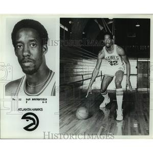 Press Photo Atlanta Hawks basketball player Dan Roundfield - sas17894