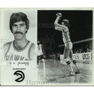 Press Photo Atlanta Hawks basketball player Tom McMillen - sas18033