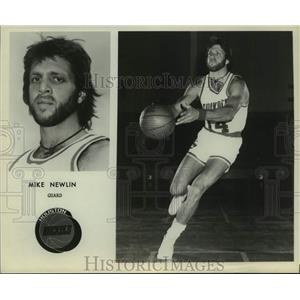 Press Photo Houston Rockets basketball player Mike Newlin - sas17881
