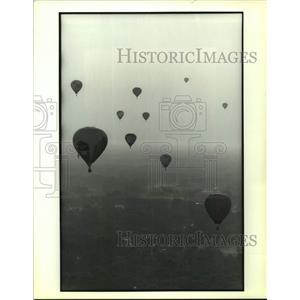 1991 Press Photo Media Challenge Race U.S. National Hot Air Balloon Championship