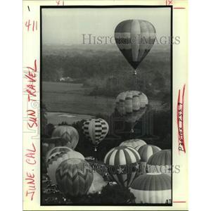 1991 Press Photo Mass ascension, U.S. Hot Air Balloon Championship, Baton Rouge