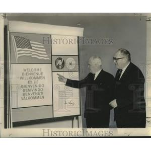 """1963 Press Photo Luther H. Hodges & H.T. """"Monte"""" Shallett- New Orleans Airport"""