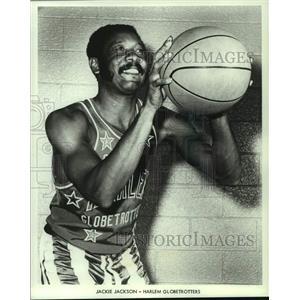 1972 Press Photo Harlem Globetrotters basketball player Jackie Jackson