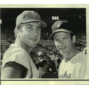 1972 Press Photo New York Mets pitcher Jerry Koosman, left - nos18446