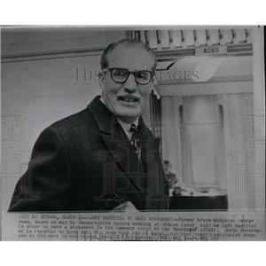 1966 Press Photo George Hees Canadian Politician - RRW84479