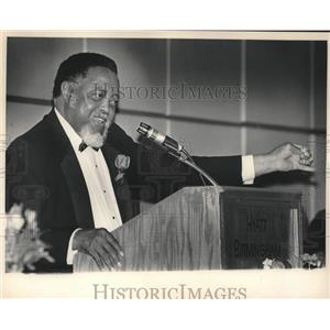 1985 Press Photo Hosea Williams, Leader, Speaking at Civil Rights Reunion