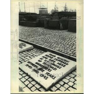 1980 Press Photo Birkenau Memorial Stones representing Holocaust victims