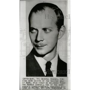 1939 Press Photo Richard Mowrer correspondent Poland - RRW71125