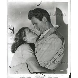 1953 Press Photo Jack Palance Flights Tangier Sudden - RRW42989