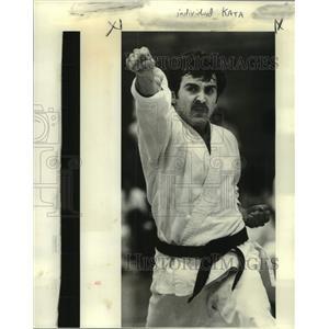 1978 Press Photo Karate - Individual kata male during competition - nob80976