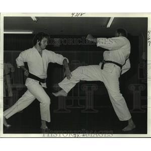 1978 Press Photo Black Belt holders John Laluda & Lucien Murzyn are sparring