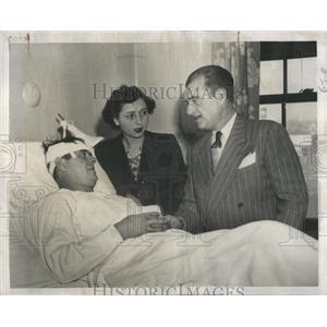 1949 Press Photo Policeman Frank Krasila Thomas Killed