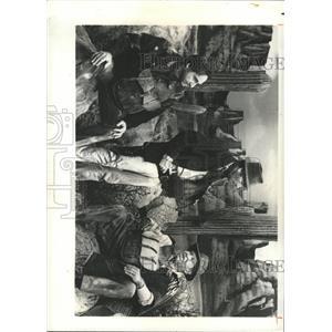 1976 Press Photo Caesar, Bishop & Burle Star In Spoof - RRX90213