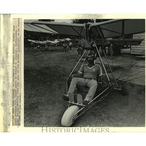 1982 Press Photo Ronny Morgan sits in his prized Ultralight - nob88886