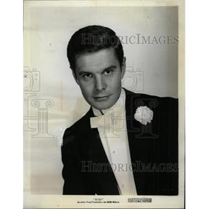 1958 Press Photo Louis Jourdan French Actor - RRY69377