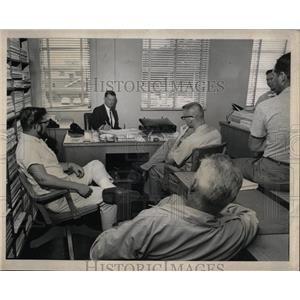 1964 Press Photo U.S. Coast Guard Sailor Interview