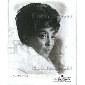 1966 Press Photo CARMEN MCRAE AMERICAN ACTRESS SINGER - RRW33871