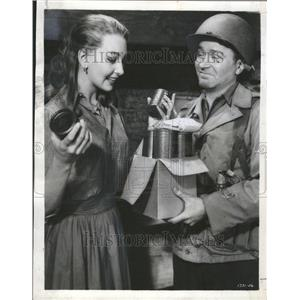 1958 Press Photo Red Buttons Elg Imitation General - RRV79807