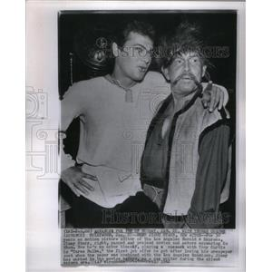 1962 Press Photo Actors Tony Curtis and Jimmy Starr - RRX58305