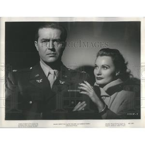 1948 Press Photo Ray Milland Florence Marly Actor Film Sealed Verdict