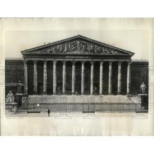 1934 Press Photo Chamber Deputies Paris Turmoil