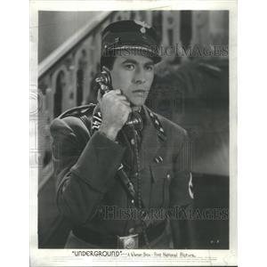1941 Press Photo Jeffrey Lynn film star Underground movie Warner brothers
