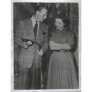 1952 Press Photo James Neil Hamilton Marie Stroud Beau Geste- RSA96595