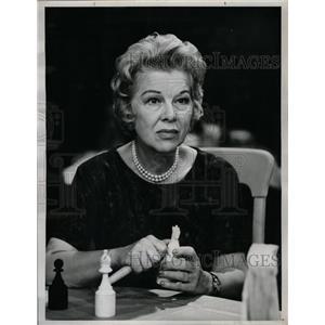1962 Press Photo Glenda Farrell The Inner Panic - RRW19163