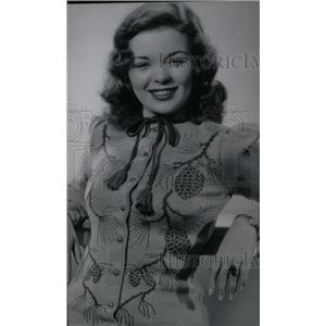 1944 Press Photo Nancy Gates American Actress - RRX42819