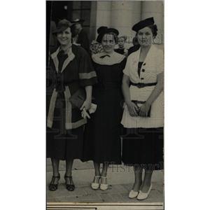 1936 Press Photo Lila Moore Bernie Henn Jane Griffin - RRW78993