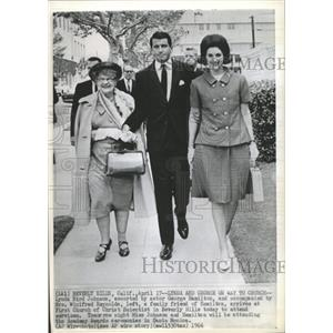 1966 Press Photo Lynda Bird, Johnson George Hamilton - RRX87977