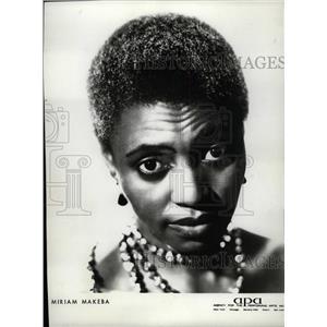 1964 Press Photo Miriam Makeba Mama Africa Grammy Award - RRW10575