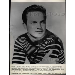 1958 Press Photo Ralph Meeker Actor So Deadly My Love - RRW24919