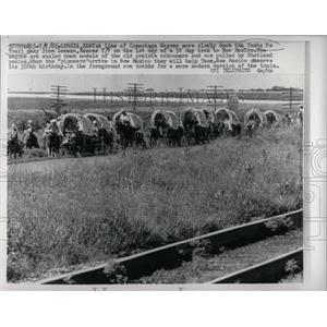 1965 Press Photo Conestoga Wagons On Santa Fe Trail - RRW64749
