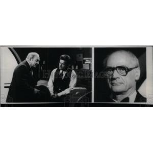 1978 Press Photo Playwright Arthur Miller Asner Sheen - RRX43295